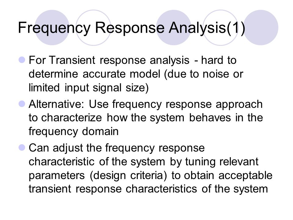 Frequency Response Analysis(1)