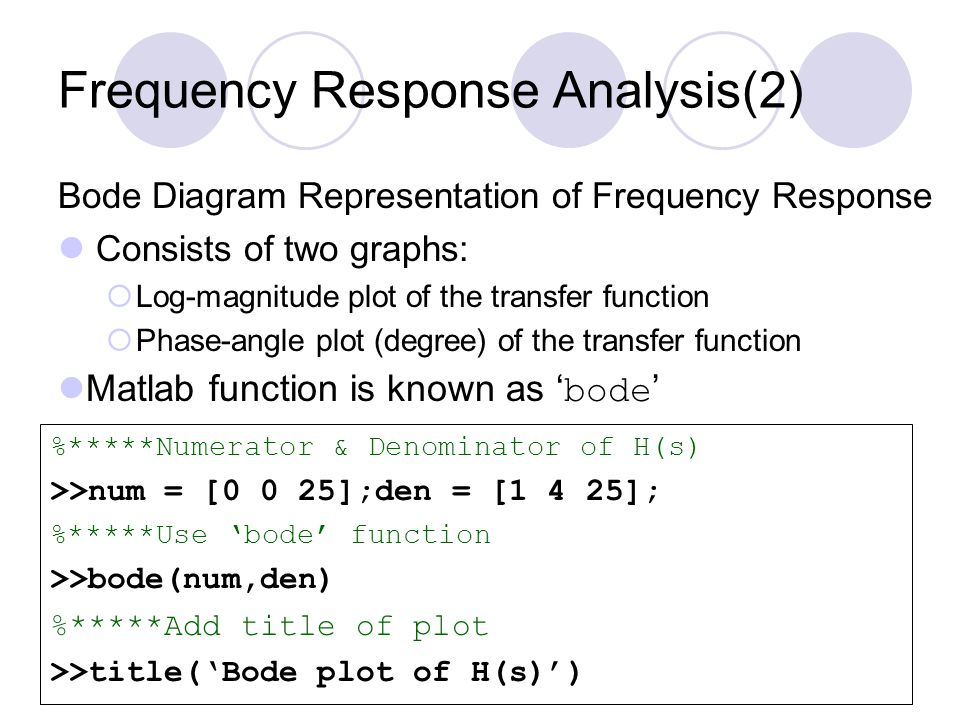 Frequency Response Analysis(2)