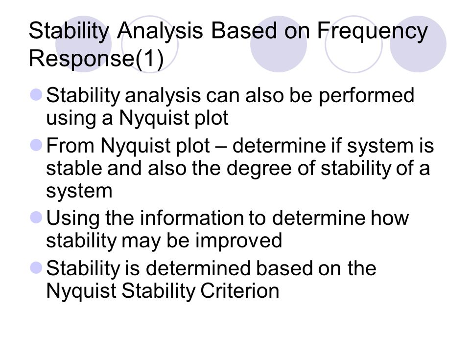 Stability Analysis Based on Frequency Response(1)