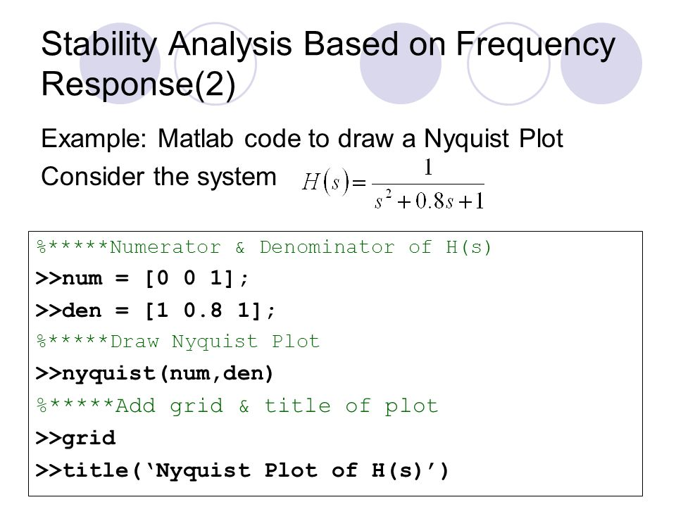 Stability Analysis Based on Frequency Response(2)
