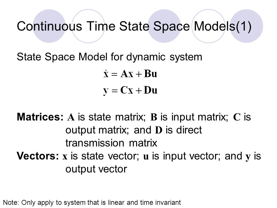 Continuous Time State Space Models(1)