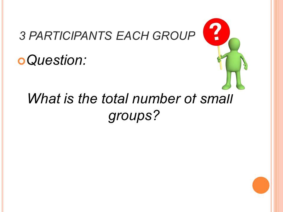 3 PARTICIPANTS EACH GROUP