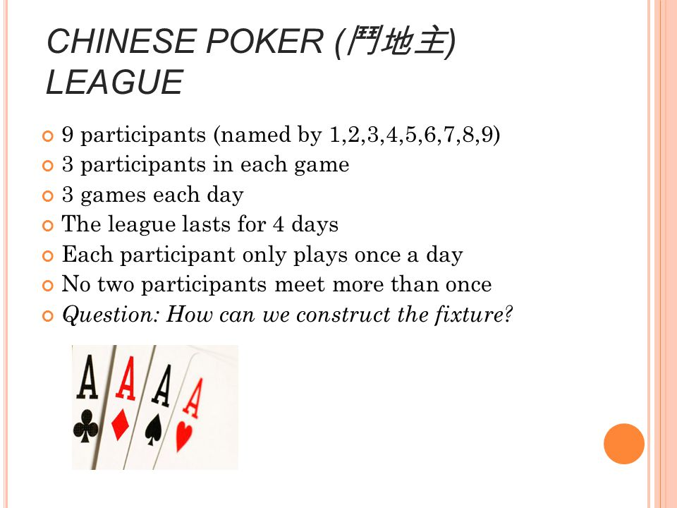 CHINESE POKER (鬥地主) LEAGUE