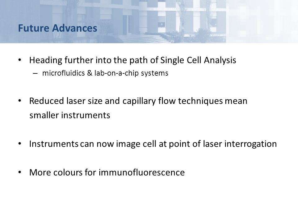 Future Advances Heading further into the path of Single Cell Analysis