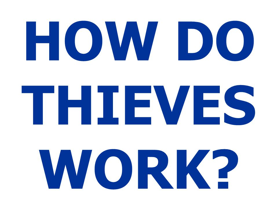 HOW DO THIEVES WORK http://moneytalks4teens.ucdavis.edu/newsltr_privacy.pdf.