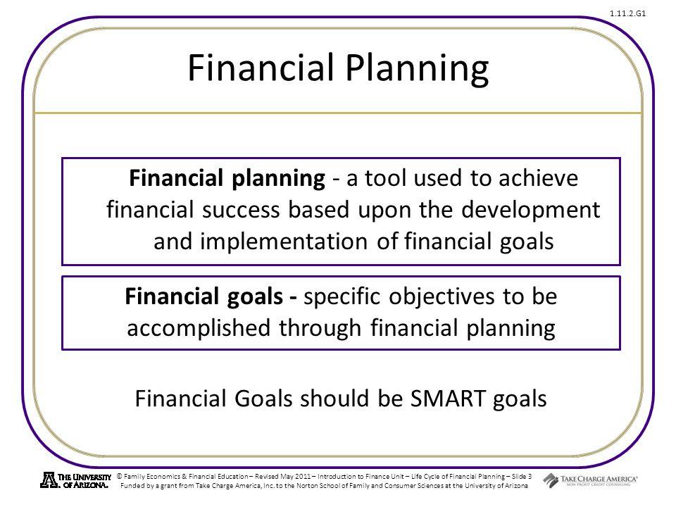Financial Goals should be SMART goals