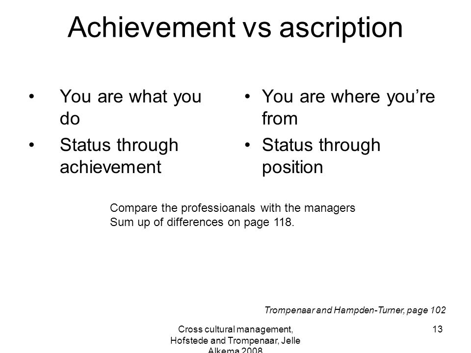 Achievement vs ascription