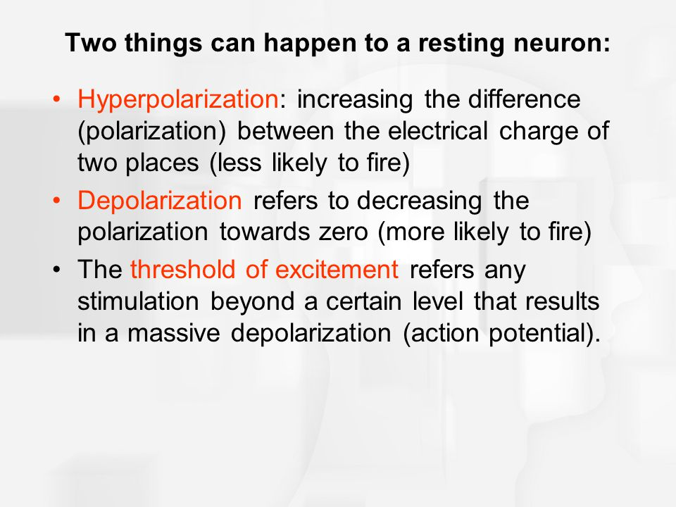 Two things can happen to a resting neuron: