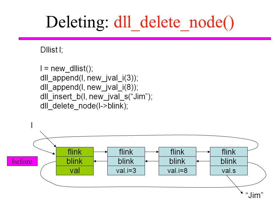 Deleting: dll_delete_node()