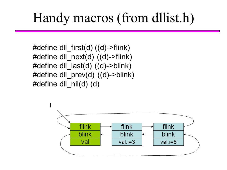Handy macros (from dllist.h)