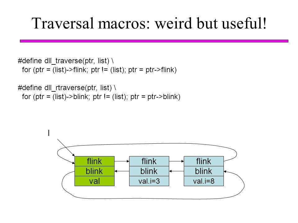 Traversal macros: weird but useful!