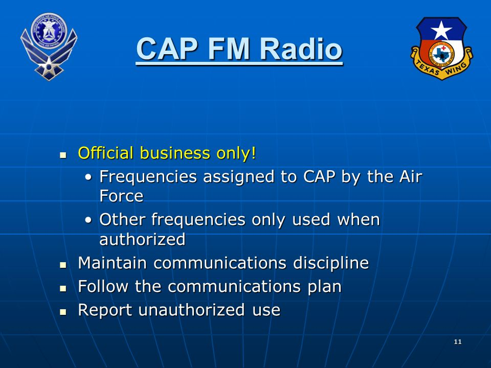 CAP FM Radio Official business only!
