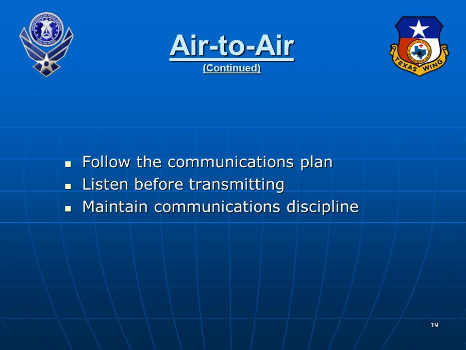 Air-to-Air (Continued)