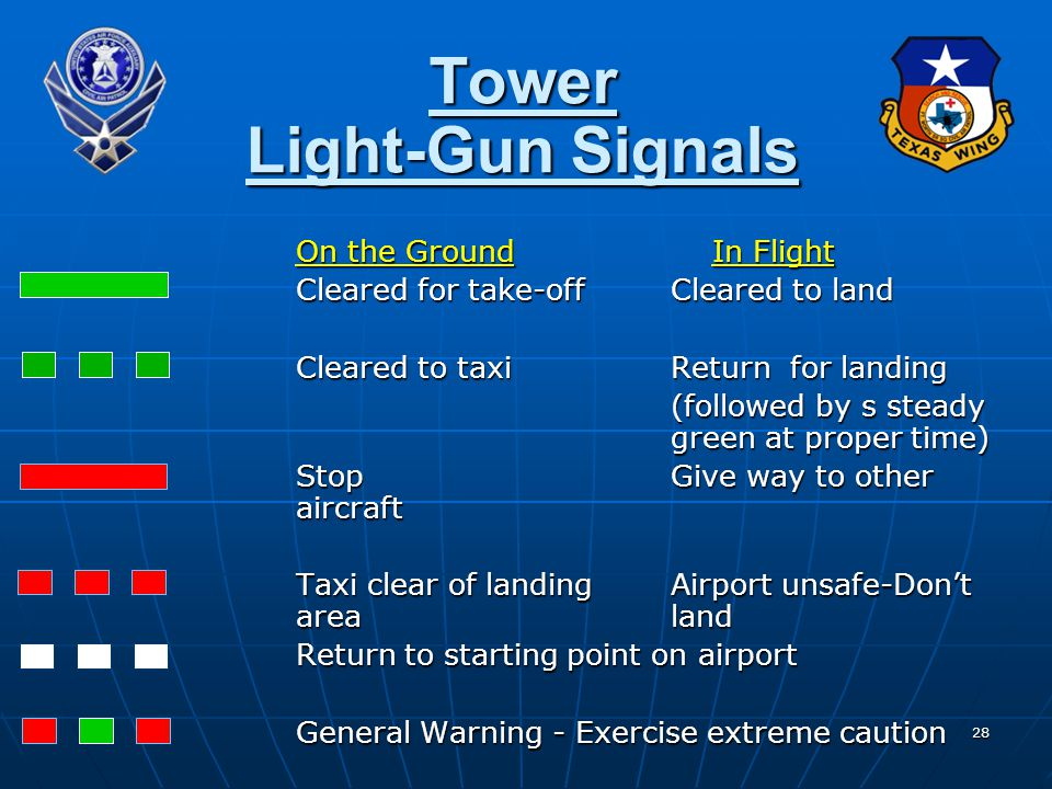 Tower Light-Gun Signals