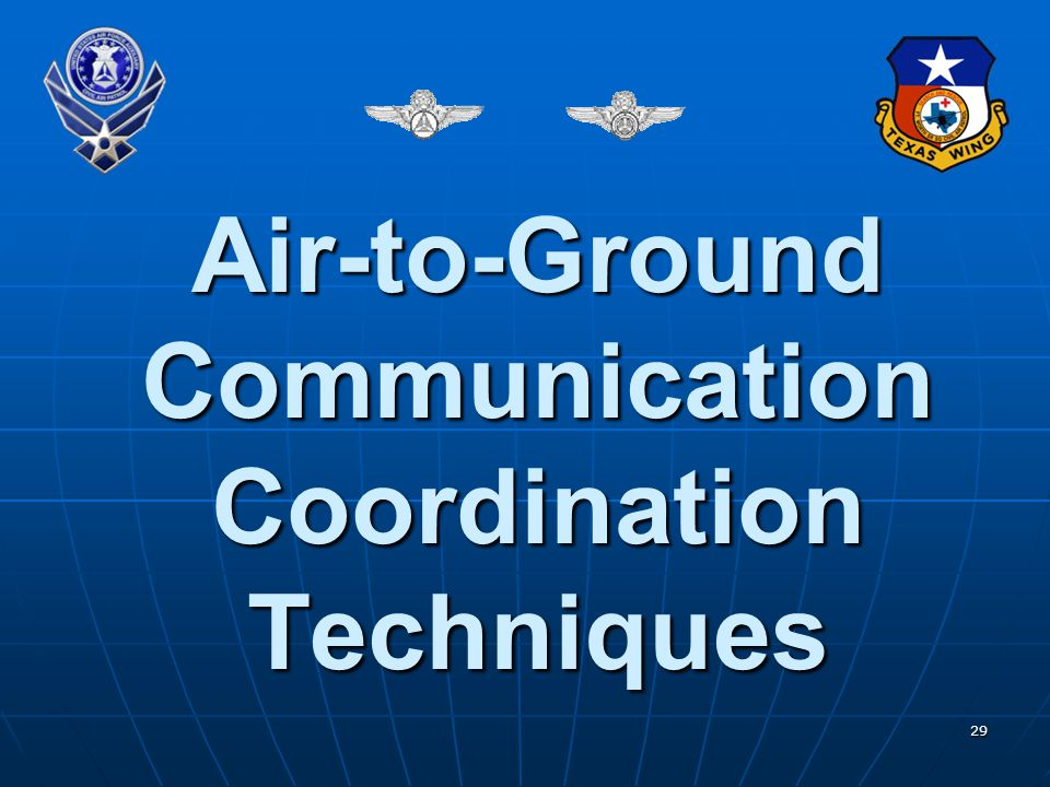 Air-to-Ground Communication Coordination Techniques