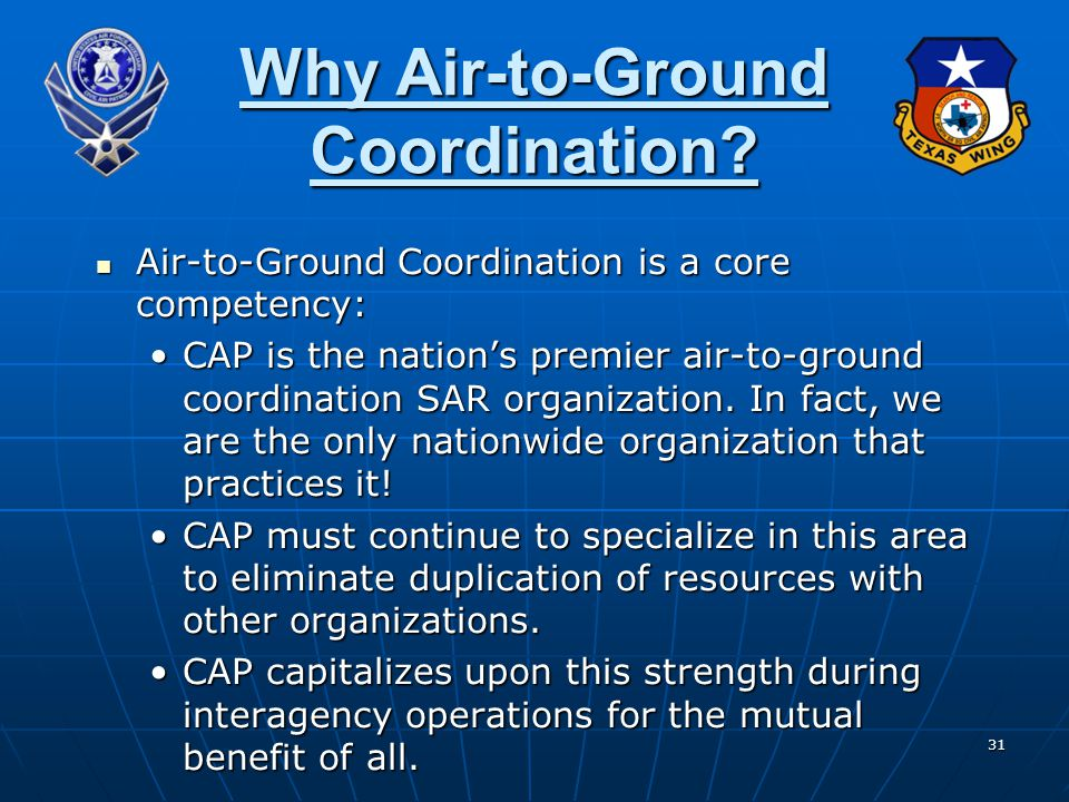 Why Air-to-Ground Coordination