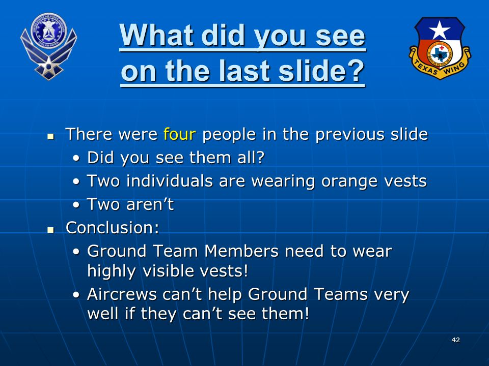 What did you see on the last slide