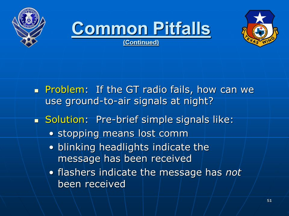 Common Pitfalls (Continued)