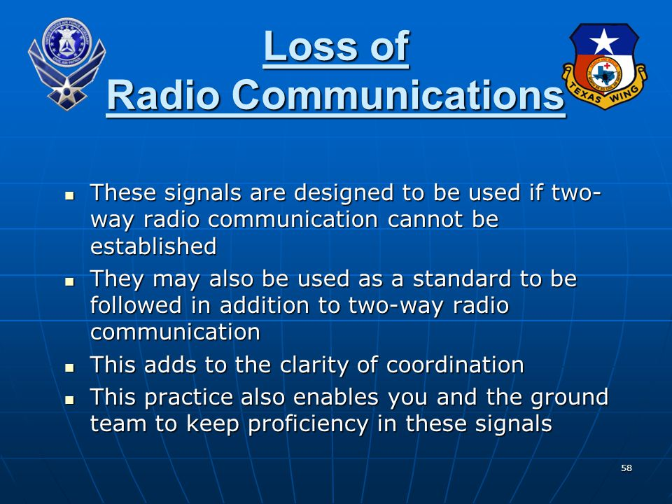 Loss of Radio Communications