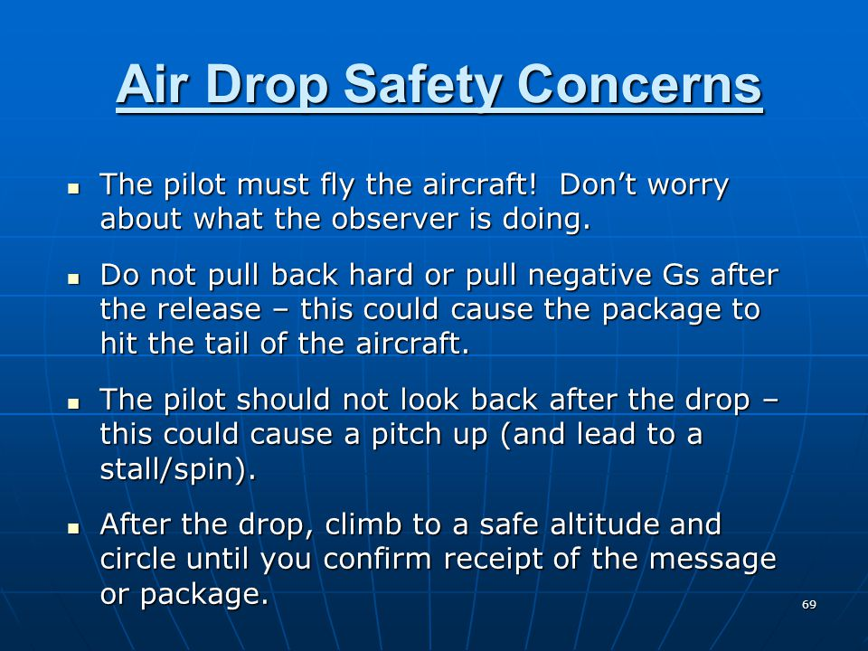 Air Drop Safety Concerns