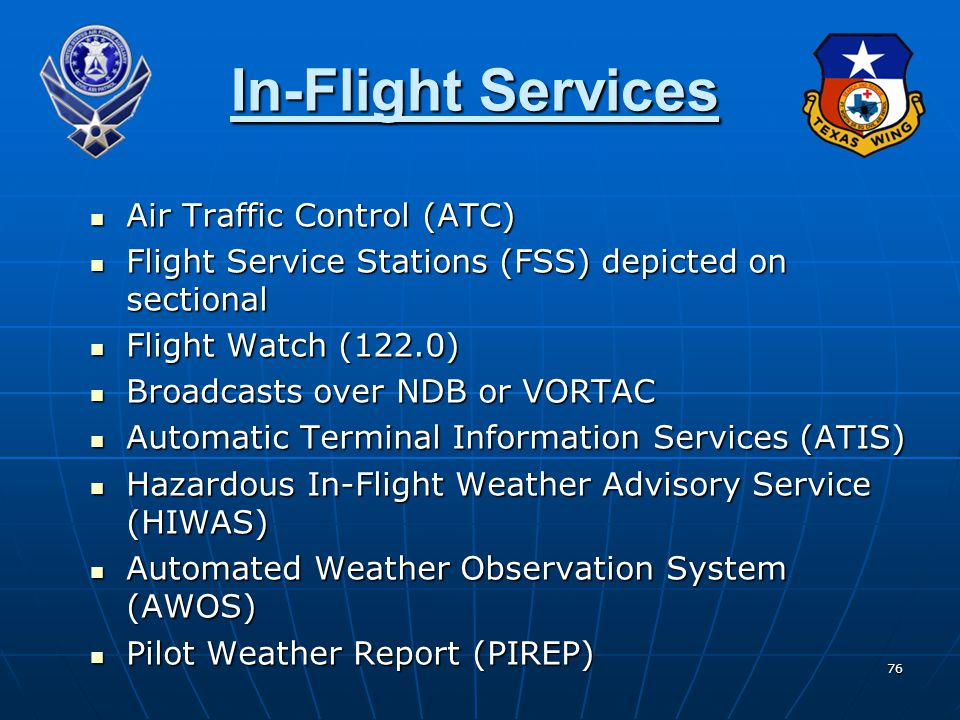 In-Flight Services Air Traffic Control (ATC)