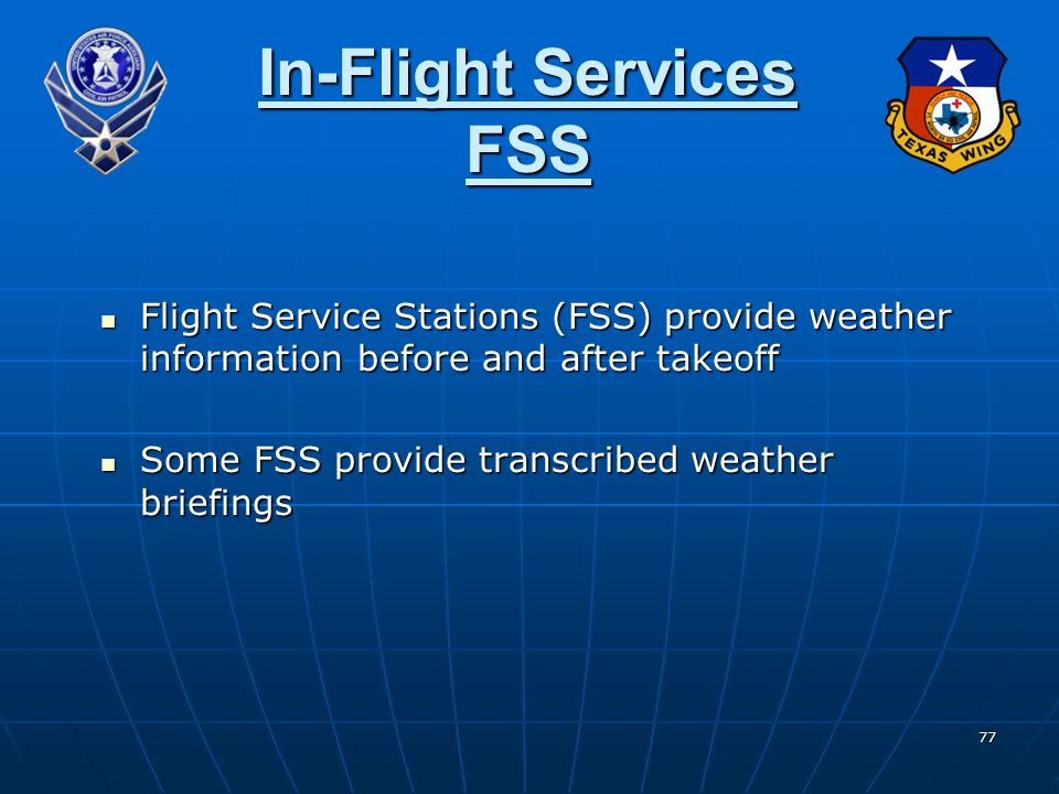 In-Flight Services FSS