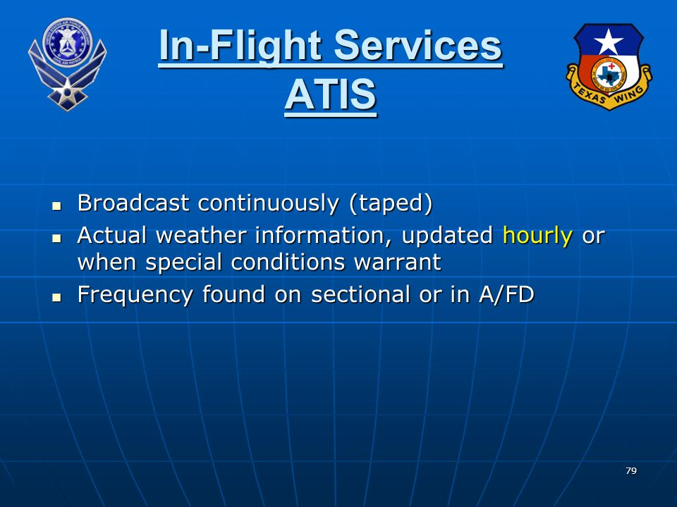 In-Flight Services ATIS