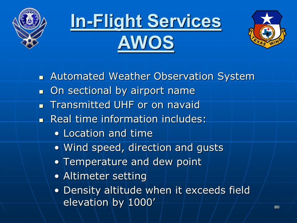 In-Flight Services AWOS