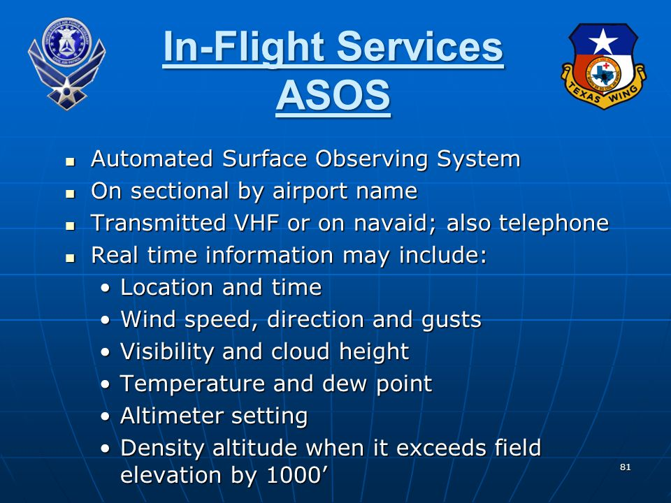 In-Flight Services ASOS