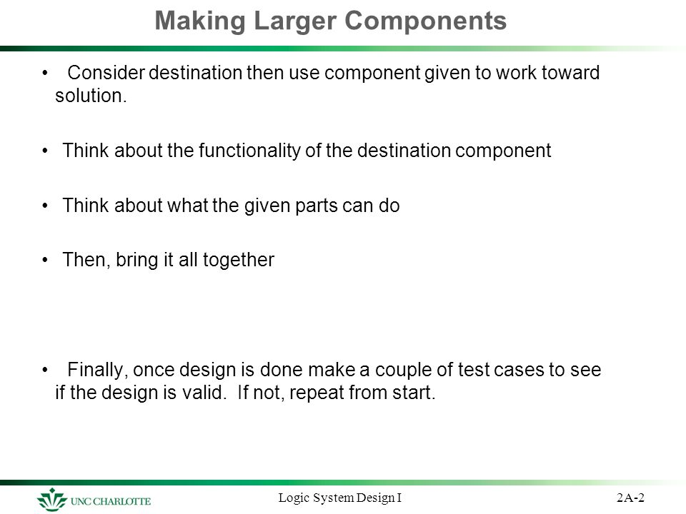 Making Larger Components