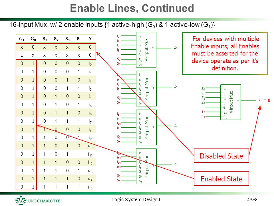 Enable Lines, Continued