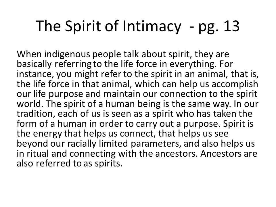 The Spirit of Intimacy - pg. 13