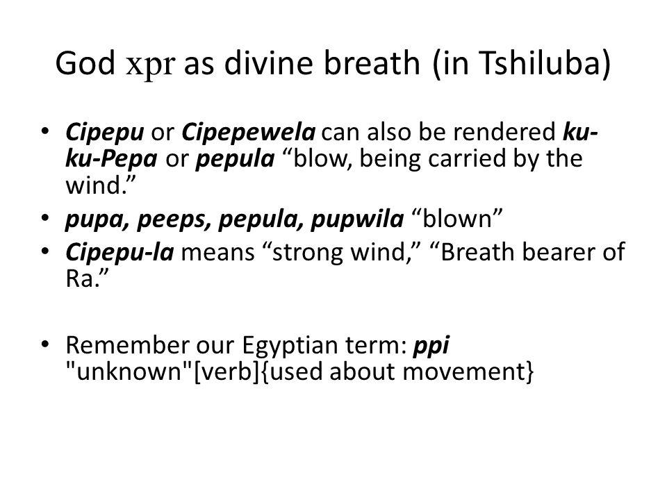 God xpr as divine breath (in Tshiluba)