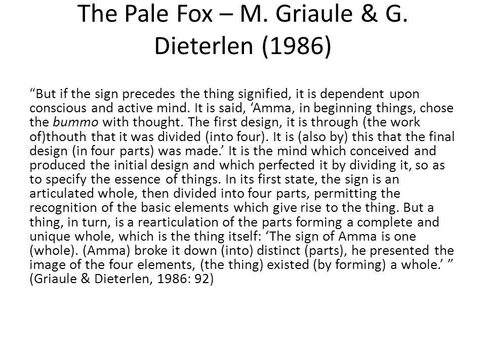 The Pale Fox – M. Griaule & G. Dieterlen (1986)