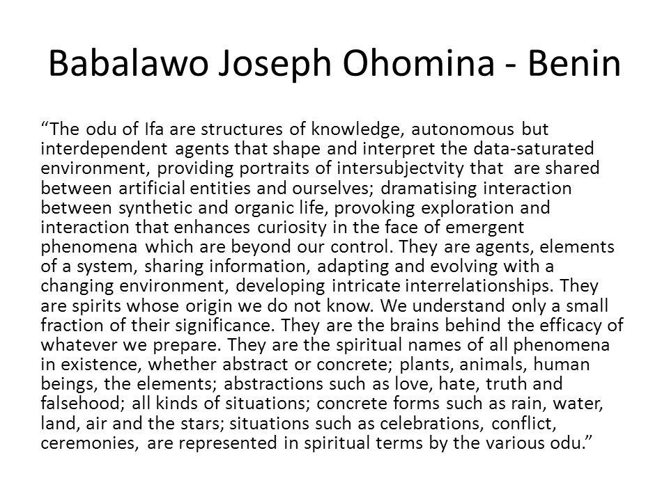 Babalawo Joseph Ohomina - Benin