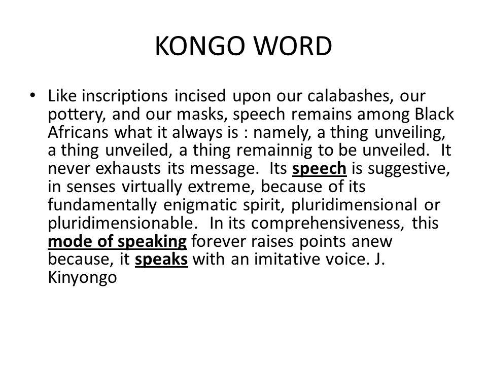 KONGO WORD