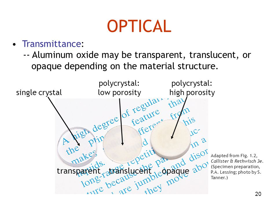 OPTICAL • Transmittance: