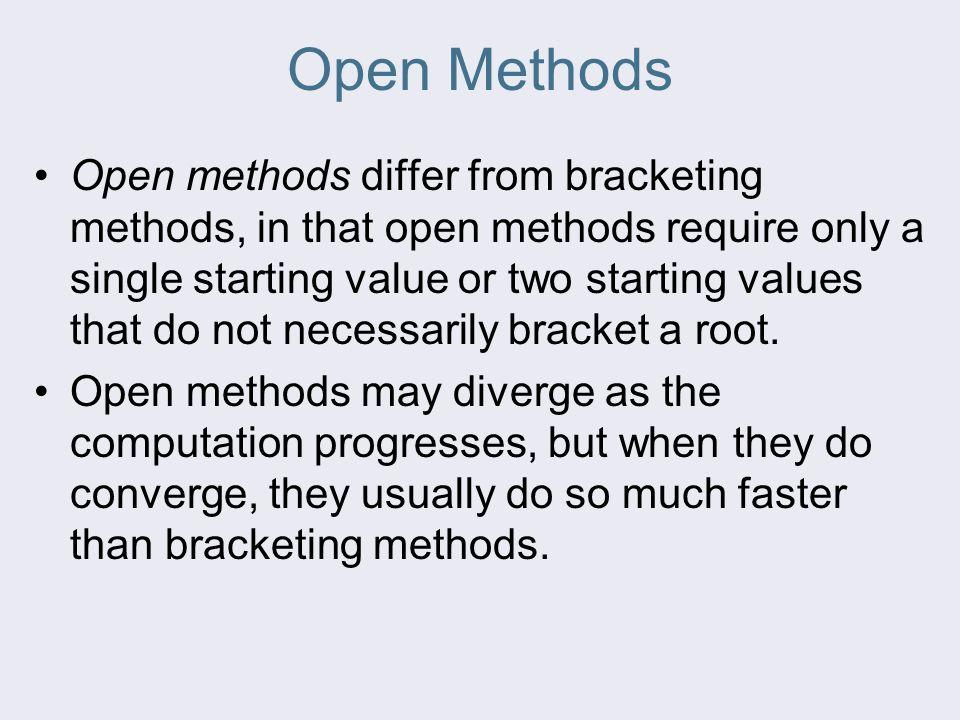 Open Methods