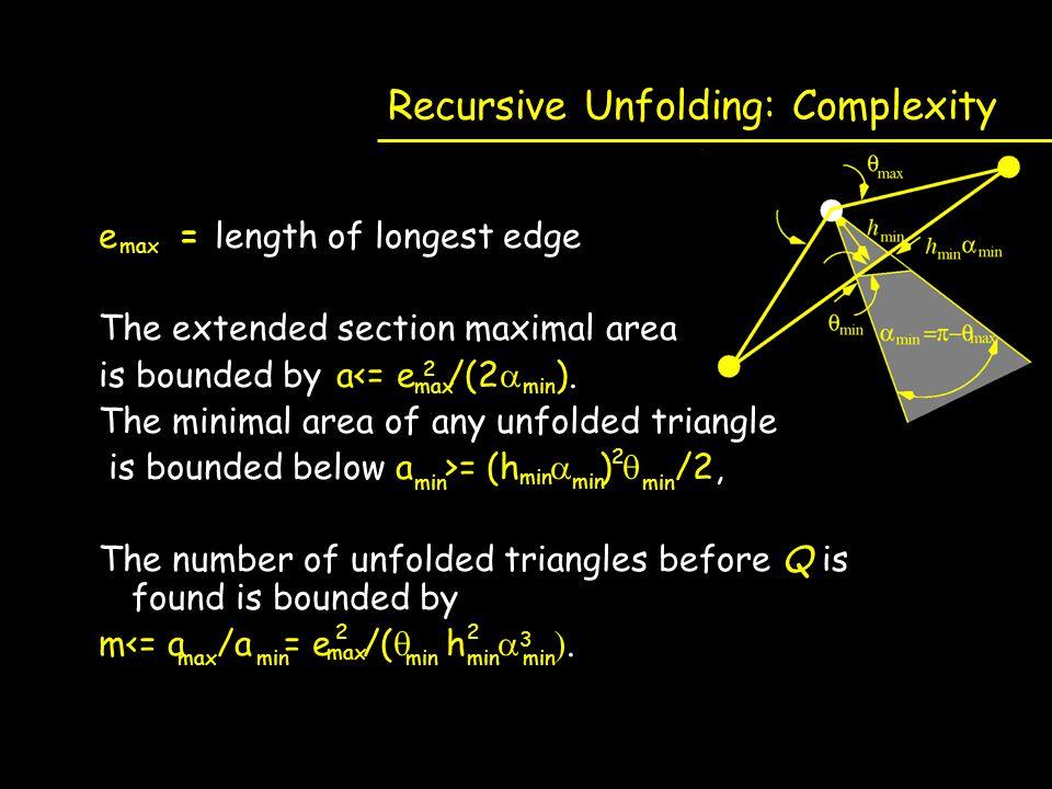 Recursive Unfolding: Complexity