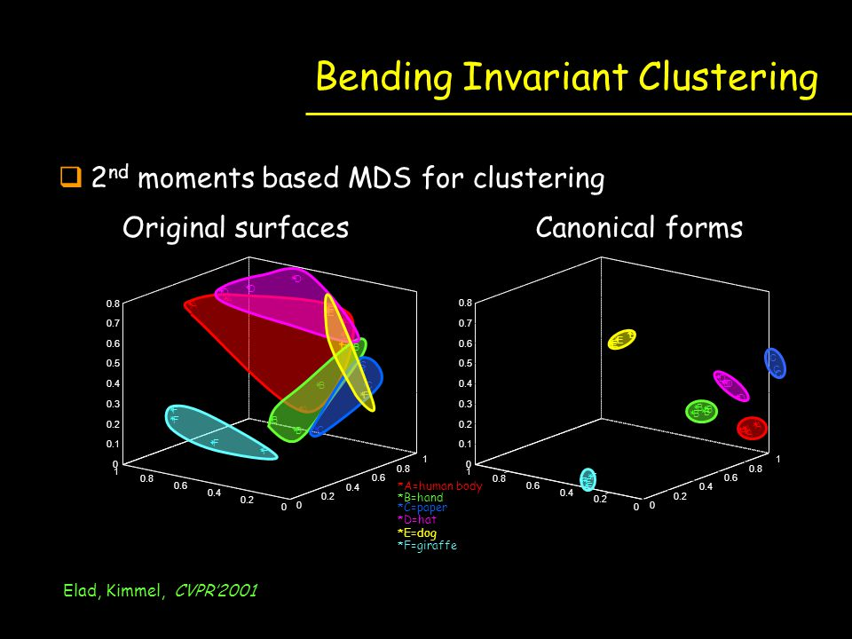 Bending Invariant Clustering