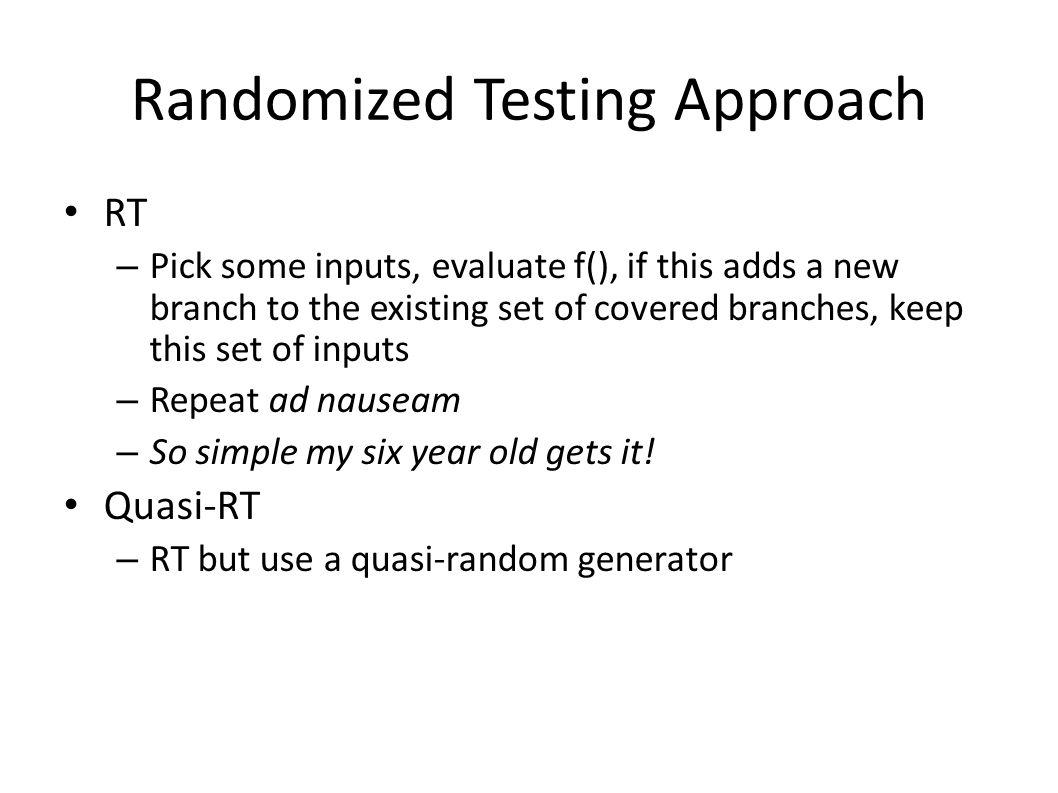 Randomized Testing Approach
