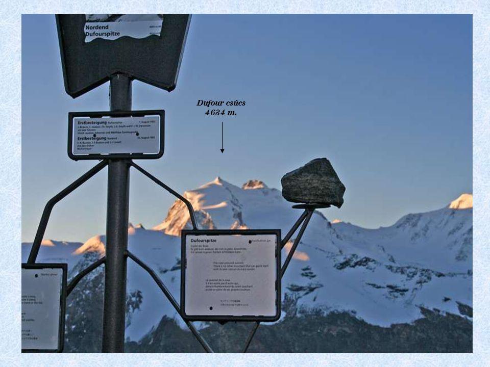 Dufour csúcs 4634 m.