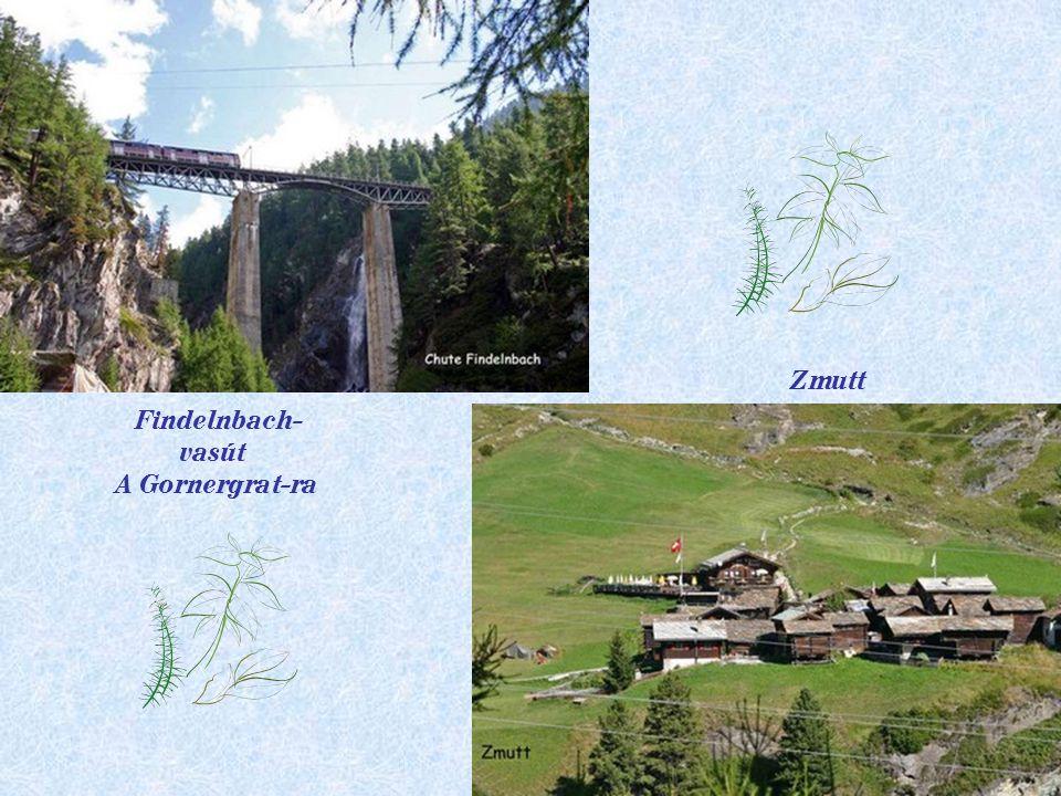 Zmutt Findelnbach- vasút A Gornergrat-ra