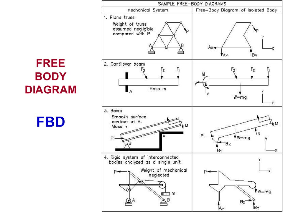 FREE BODY DIAGRAM FBD
