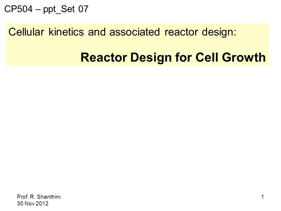 Reactor Design for Cell Growth