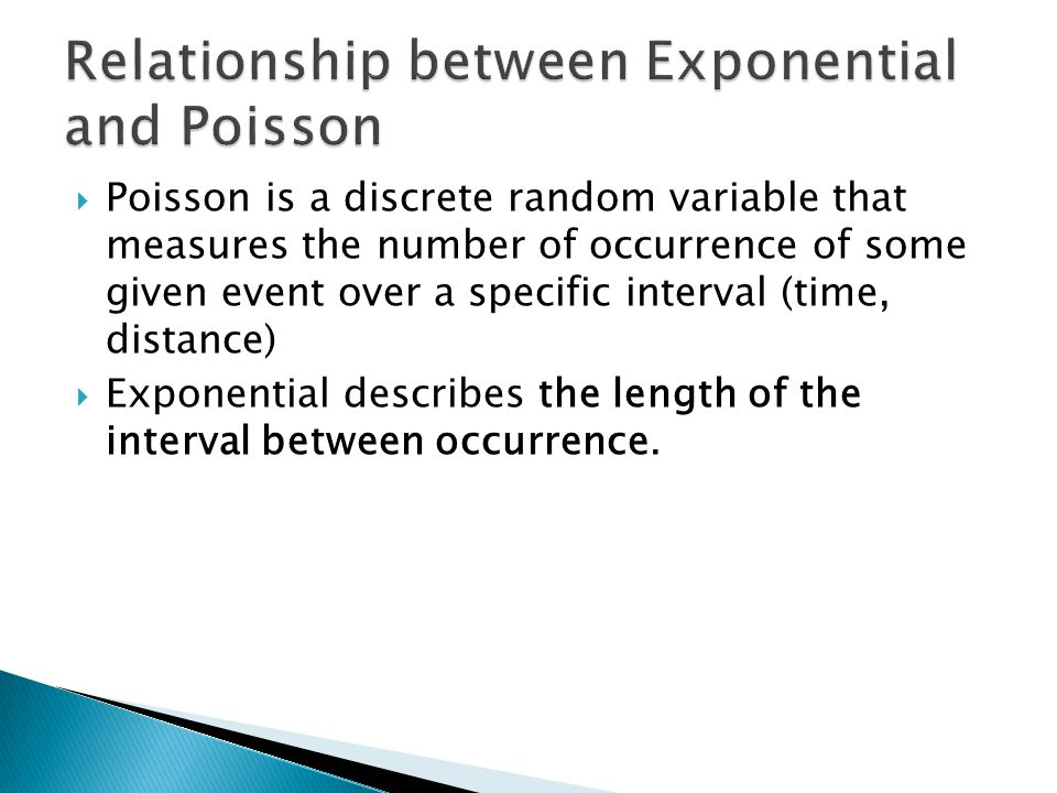 Relationship between Exponential and Poisson