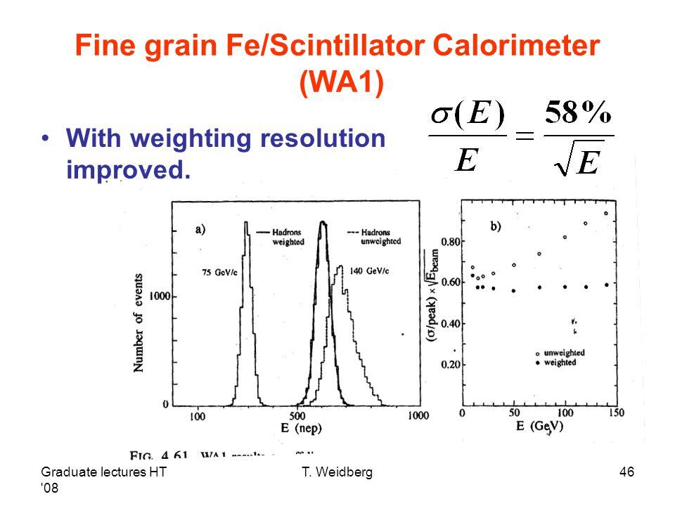 Fine grain Fe/Scintillator Calorimeter (WA1)