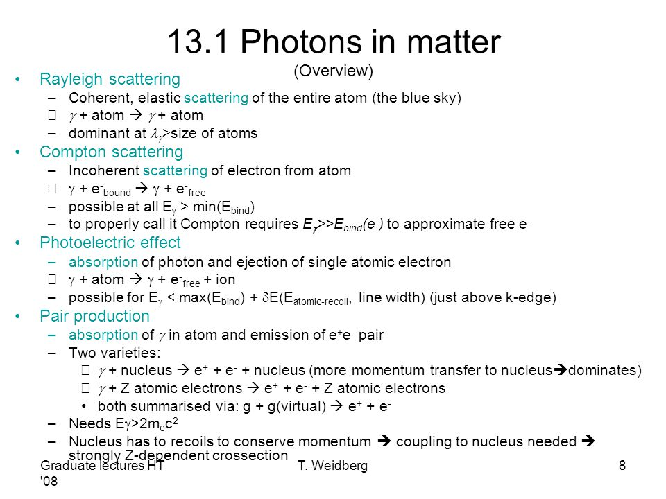 13.1 Photons in matter (Overview)