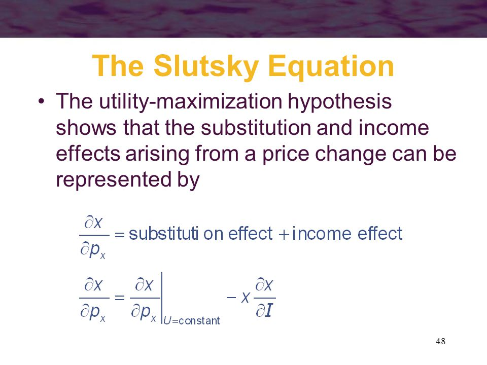 The Slutsky Equation