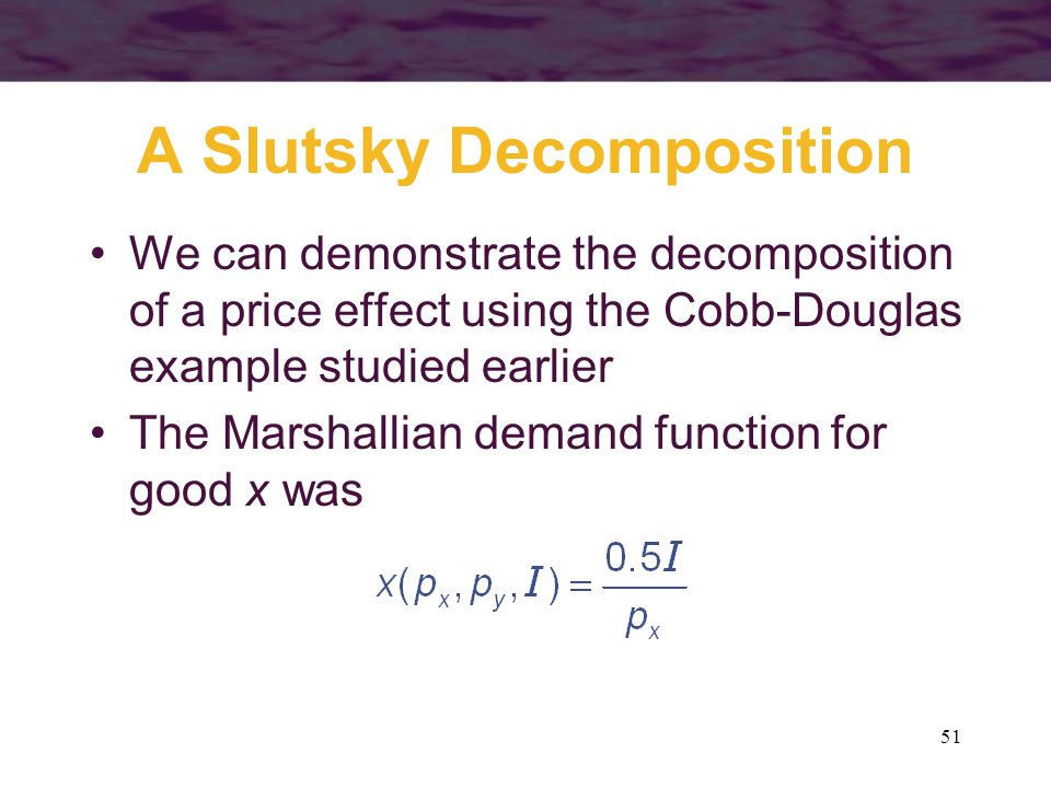 A Slutsky Decomposition